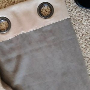 Better Homes And Gardens Accents - 2 Sand/khaki Crinkle material Curtain Panels -